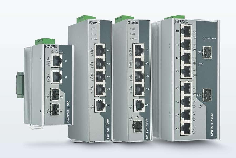 Компания Phoenix Contact представила новые управляемые и неуправляемые коммутаторы